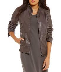 women s leather faux leather coats dillards