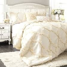 the avery hotel collection ruffle comforter bedding set ivory