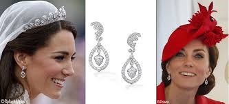 kate middleton diamond earrings kate in rich pieces diamond wedding earrings for order of