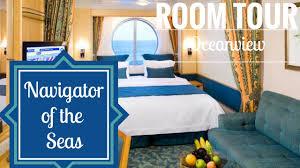 Freedom Of The Seas Floor Plan Navigator Of The Seas Oceanview Stateroom Tour Youtube