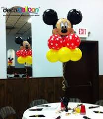 mickey mouse balloon arrangements party decorations miami balloon sculptures ed 1st bday