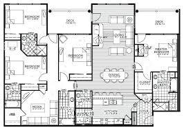 4 bedroom floor plans ranch 4 bedroom floor plans littleplanet me