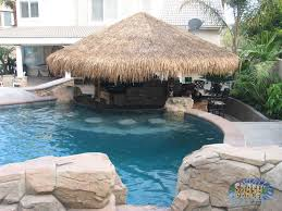 Lagoon Swimming Pool Designs by Awesome Swim Up Bar With Tiki Style Cabana Www Gotsplash Com