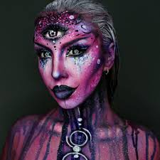scary halloween costumes and makeup ellie h m on instagram u201canother view of my alien makeup