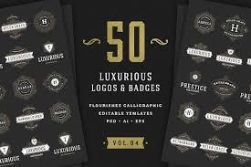 50 ornaments logos monograms logo templates creative market