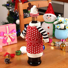 christmas red wine covers bottle cover indoor decoration antler