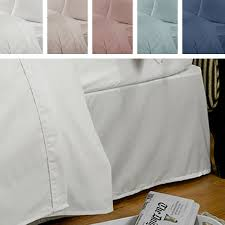 Linen Valance Highams 100 Egyptian Cotton Valance Bed Sheet Ebay