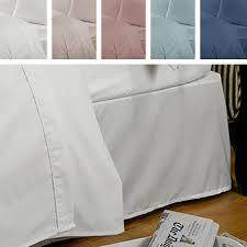 highams 100 egyptian cotton valance bed sheet ebay