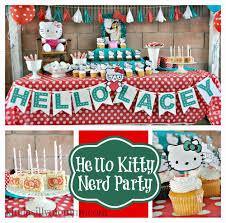 nerd hello kitty 5th birthday party u2014 kindasillymommy