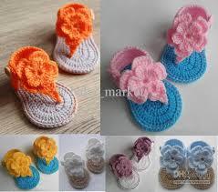 baby girl crochet 2018 20 crochet baby girl flower sandals baby gladiator