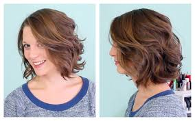short hairstyles ideas loose curls for short hair with flat iron
