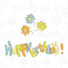 birthday card template with flowers happy birthday stock vector