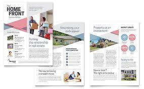 realtor newsletter template design