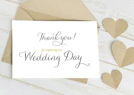 thank you wedding cards thank you for capturing our wedding day calligraphy wedding card