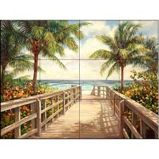 tile murals tile the home depot i 39 m going to the beach 17 in x 12 3