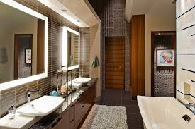 modern bathroom design bathroom ideas two mirrors with lights above sink bathroom