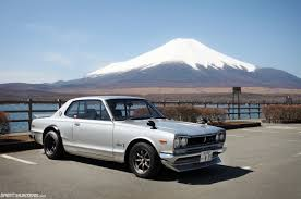 1970 Nissan Skyline 2000 Gt R In Front Of Mount Fuji 1600x900