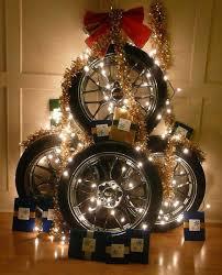 recycling tires for winter decorating original handmade designs