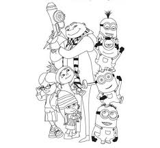 despicable minions coloring pages despicable coloring