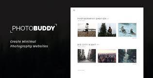Photography Portfolio Photobuddy Photography Portfolio Gallery Minimal Html