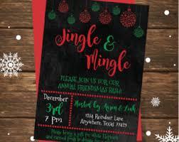 jingle u0026 mingle invitation christmas party invitation