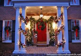 Christmas Decorations At Pottery Barn by Christmas Porch Decorating U0026 Christmas Party Recipes