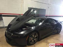 Bmw I8 Blacked Out - bmw i8 wrapped in 3m bright gloss yellow car wraps miami