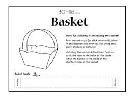 basket template easy paper easter baskets cute as favors or small
