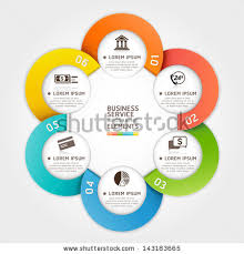 circle layout vector modern business service circle origami style stock vector 143183665