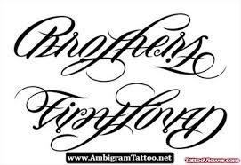 brothers ambigram design viewer com