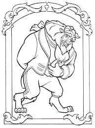 beast hugging belle coloring beauty beast pages