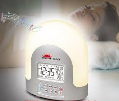 sad light alarm clock maxim rise shine sunrise led natural alarm clock dawn simulator