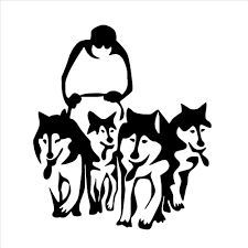 online get cheap dog wall mural aliexpress com alibaba group a group of husky dog huskies wall decals sled sledge vinyl wall mural home living room