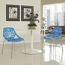 Chair Good Blu Dot Modern Blue Metal Dinin by Amazon Com Modway Stencil Dining Side Chair Blue Set Of 2 Chairs