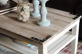 farmhouse style coffee table diy planked farm style coffee table hometalk
