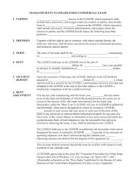 free massachusetts commercial lease agreement template pdf