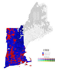 1980 Presidential Election Map by The Homelycooking New England Town Maps Thread