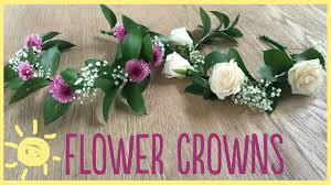 real flowers diy how to make a flower crown real flowers