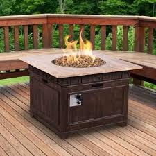 home depot fire table square envirostone and travertine propane hearth pit casual classics