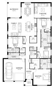 Single Floor Plan by New Home Builders Sabrina 29 Single Storey Home Designs