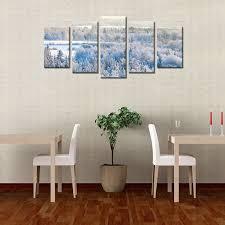 factory best selling hd canvas art prints snowy forest wall art