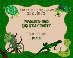 reptile birthday party invitations cimvitation