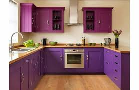 purple cabinets kitchen purple and plum kitchen with laminated wood countertops feminine