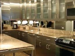 mirrored backsplash in kitchen mirrored kitchen backsplash kitchen new antique mirror installed