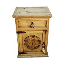 amazon com mansion rustic nightstands with star and free