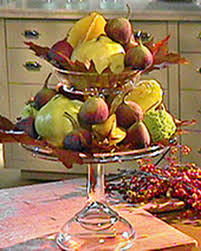 harvest centerpieces with fruits and leaves martha stewart