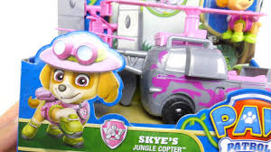 paw patrol jumbo action pup skye u0026 skye jungle helicopter