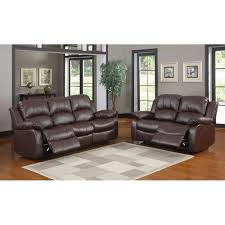 reclining sofa and loveseat set 1 509 00 cranley 2pc double reclining sofa set in brown sofa and