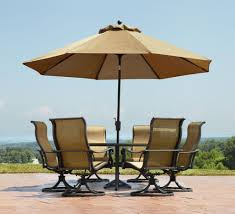 Patio Dining Set With Umbrella Patio Table Umbrella Ring Probably Patio Umbrellas Terrific Best