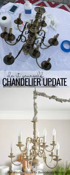 Non Hardwired Chandelier Remodelaholic Diy In Chandelier From Thrifted Hardwired Light